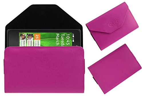 Acm Premium Pouch Case For Nokia X+ Plus Android Flip Flap Cover Holder Pink  available at amazon for Rs.179