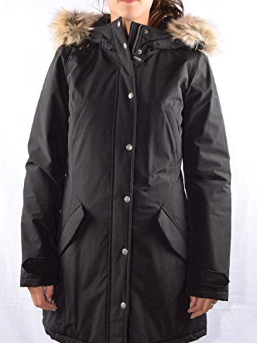 Giaccone Donna WOOLRICH WYCPS0418 CN02 Cotone nylon Penn parka Autunno Inverno 2016 Nero XL