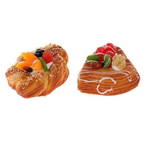 perfk 2er DIY Künstlichen Kuchen Brotkuchen Model mit Frucht für die Dekoration Küche, Hause, Geschäft, Markt
