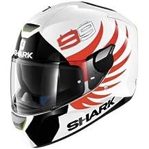 Casco SHARK HE5440EWKRXL : SHARK SKWAL LORENZO color BLANCO NEGRO ROJO talla XL