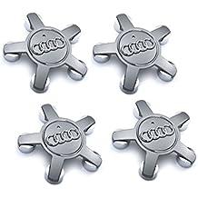 Meow Star Audi – Juego de Cuatro Ruedas de aleación Hub Centro Tapones Gris 5 radios