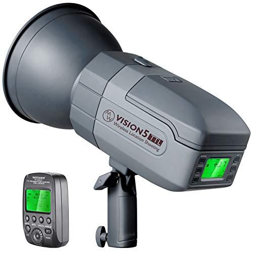 Neewer Vision5 400W TTL für Nikon HSS im Freien oder Studioblitz mit 2,4G System und Funkauslöser 1 Pack Li-Ionen Akku Deutsche Verarbeitung Bowens...