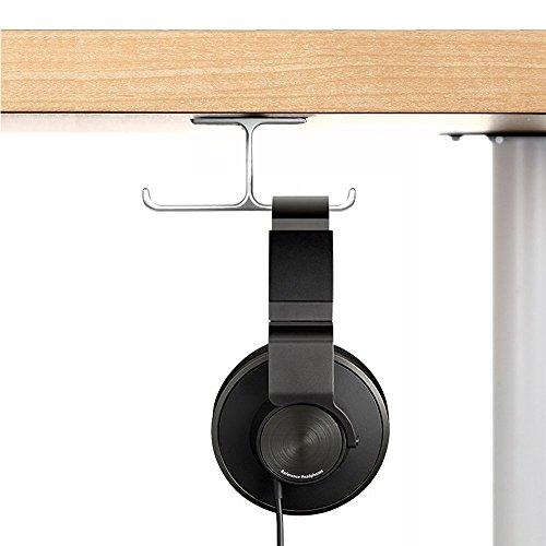 6amLifestyle Kopfhörer Ständer Universal Kopfhörerhalter aus Aluminium Earphone Holder Headset-Ständer für Kopfhörer und professionelle DJ-Kopfhörer Beyerdynamic, Audio-Technica, Samson, Nintendo Silber (Kopfhörer-haken-ständer)