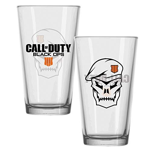 Call of Duty: Black Ops IIII Glas Skull - transparent, Bedruckt, 100% Glas, Fassungsvermögen ca. 330 ml. (Duty Call Of Getränke)