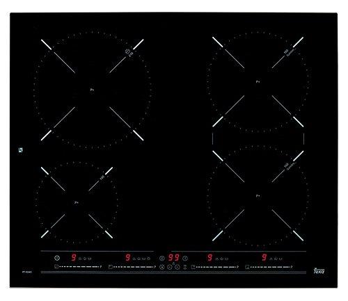 Teka Induktions-Kochfeld IZ 6420, Glas, Metall, Schwarz; Frontseite Facette