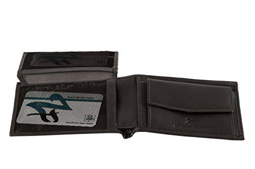 Portemonnaie Mann ZIPPO FASHION grau aus leder mit Geldbörsen und klappe A4412 (Männer Geldbörse Zippo)
