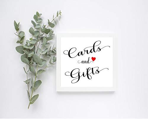 CELYCASY Karten & Geschenke, bedruckbares Hochzeitsschild, Empfangsschild, Partyschild, digitaler Download
