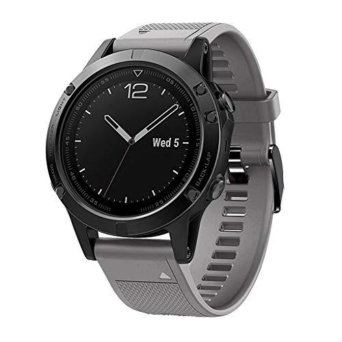 Waotier für Garmin Fenix 5 Quickfit Armband TPU Silikon Armband für Garmin Fenix 5X Plus Armband für Garmin Fenix 3 HR Kompatibel für Garmin Fenix 5X / 5X Plus/Fenix 3/3 HR Armband (Grau)