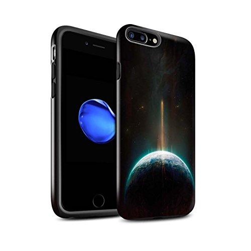 Offiziell Chris Cold Hülle / Glanz Harten Stoßfest Case für Apple iPhone 8 Plus / Pack 6pcs Muster / Galaktische Welt Kollektion Phönix/Raumzeit
