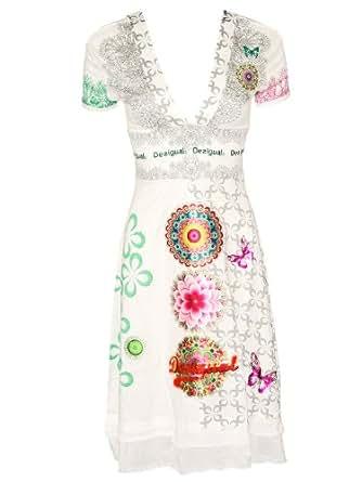 DESIGUAL Damen Designer Kleid Tank Top - FLECHAZO -XXL
