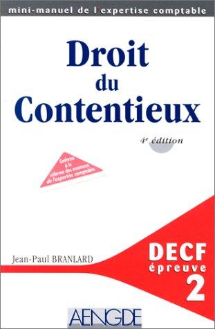 DECF EPREUVE N° 2 DROIT DU CONTENTIEUX. 4ème édition
