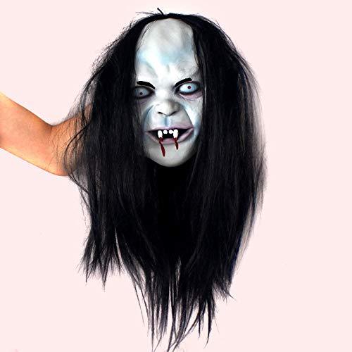 Beautyrain Halloween Maskerade Maske Black Hair Hexe Maske Scary Hexe Vampire (Hexe Maskerade Maske)