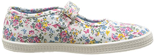 Start Rite Posy, Baskets mode fille Blanc (Neutral Floral)