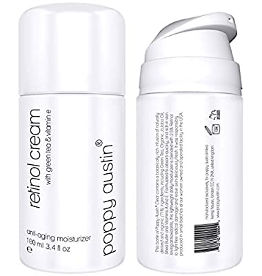 Retinol Cream for Day & Night by Poppy Austin - TRIPLED SIZED 100ml - Cruelty-Free, 2.5% Retinol, Vitamin E, Green Tea & Shea Butter - Anti Ageing Face Moisturiser & 2019 Best Wrinkle Cream