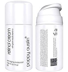 Retinol Creme für Tag & Nacht von Poppy Austin® - Riesig 100ml - 2,5% Retinol, Vitamin E, Grüner Tee & Sheabutter - Anti-Aging-Feuchtigkeitscreme für das Gesicht & 2018 Beste Anti-Falten-Creme