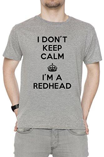 i-dont-keep-calm-im-a-redhead-uomo-t-shirt-grigio-cotone-girocollo-maniche-corte-grey-mens-t-shirt