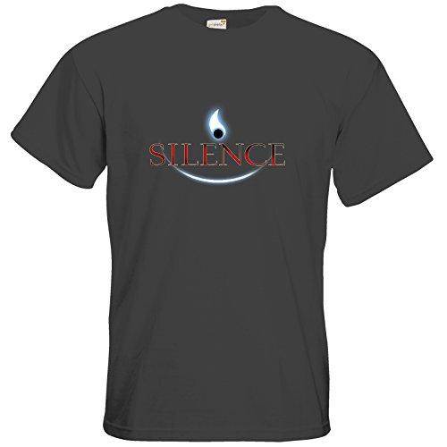 getshirts - Daedalic Official Merchandise - T-Shirt - Silence - Logo Dark Grey