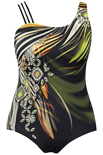 Ulla Popken Damen große Größen Badeanzug Multicolor 52 723613 10-52