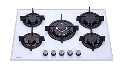 Table Blanc Cuisson - Millar GH7051PW Plaques de cuisson en Verre