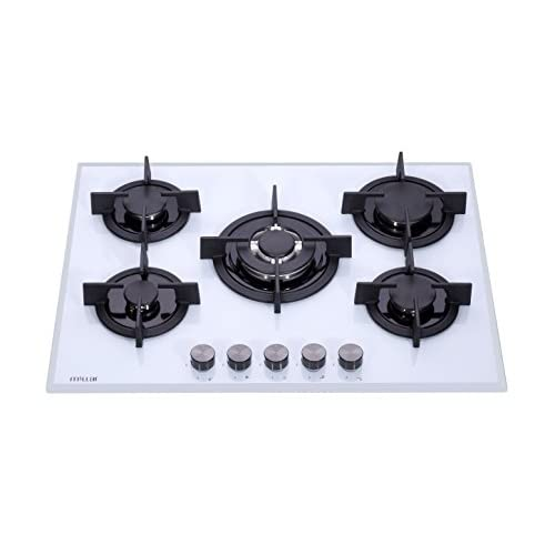 Millar GH7051PW Tempered Glass Hob With 5 Gas Burners 70 Cm, White