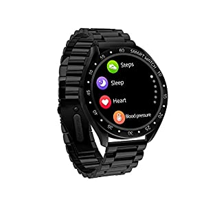 JHMAOYI Smart Watch Herzfrequenz-Armband Blutdruck-Oximeter Step Calorie Sport-Modus Schwarz Silber Stahlgürtel Gesundheits-Armband Smart Watch-Armband