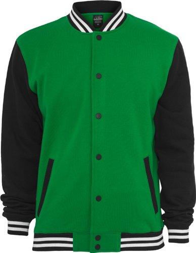 Urban Classics 3-tone College Sweatjacket Grigio Scuro/Granato