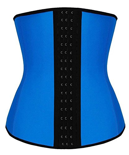 Blau Taillen Trainings Frauen Latex Rubber Cincher Korsett Körper Former Shapewear (Training Korsett-frauen)