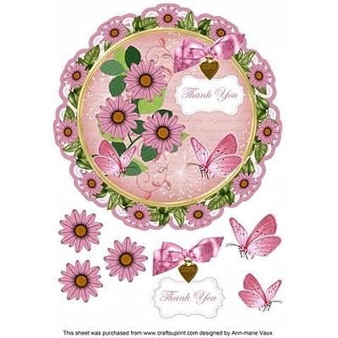 Pink Daisy con scritta