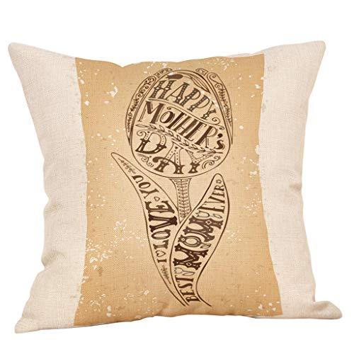 Fearless Come Baumwoll Kissenbezüge Platz Dekorative Kissenhülle in Verschiedene Muster 45x45 cm,Gift Serie