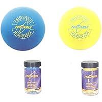 Tubo de 2 pelotas de Frontenis color amarillo