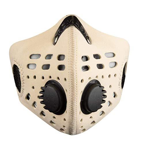 RZ Mask M1 Natural - Atemschutzmaske Mit Aktivkohlefilter Plus 1 Filter Und Etui Gratis - Medium/Small
