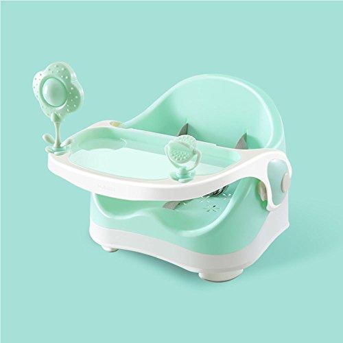 GUOHONG-CX Umweltfreundliche Kunststoff Baby Dusche Stuhl Baby Esszimmerstuhl Kind Tragbare Multifunktions Stuhl Essen Essecke Hocker,Green