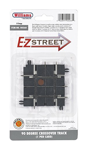 Williams by Bachmann E-Z Street 90 Degree Crossover Track 1 Per Card - O Scale