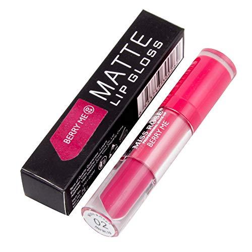 Yazidan Miss Rose Flüssigkeit Lippenstift Feuchtigkeitscreme Samt Lippenstift Kosmetik Schönheit Bilden Wasserdicht Vampir-Stil Glanz Glänzend Mode Lange andauernd Feuchtigkeitsspendend (#2)