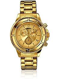 Versace Versus Tokyo , Reloj de cuarzo para mujer, acero dorado crono calendario, 44
