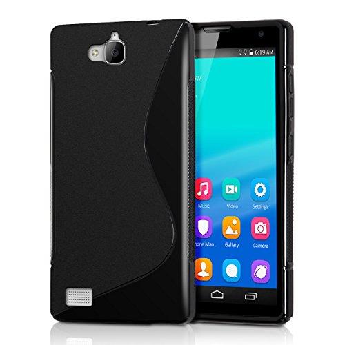 kwmobile Huawei Honor 3C Hülle - Handyhülle für Huawei Honor 3C - Handy Case in Schwarz