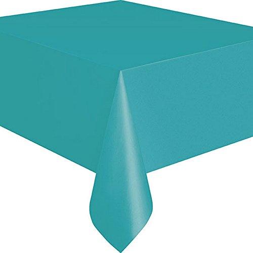 Unique Party Tischdecke aus Kunststoff, wiederverwendbar, rechteckig, erhältlich in 19 Farben, blau One size