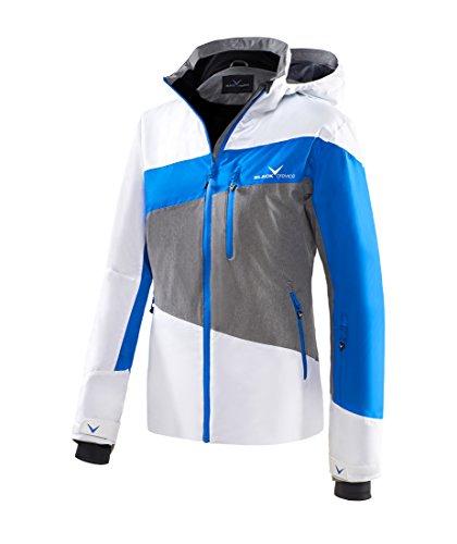 Black Crevice Damen Skijacke Striped weiß/Blau/Grau, 38