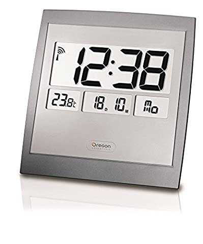 Oregon Scientific Jumbo Wall Clock with Thermometer, (Oregon Scientific Termometro)