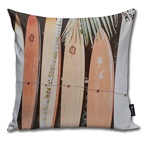 CAPSOCKS Lets Surf Ii Pillowcase Home Life Cotton Cushion Case 18 x 18 inches (Surf Ii)