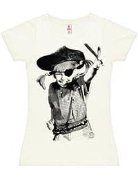 Pippi Langstrumpf - Pirat T-Shirt Damen - altweiß - Lizenziertes Originaldesign - LOGOSHIRT