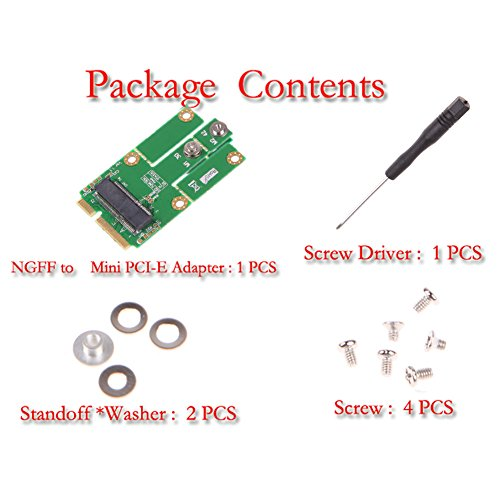 Demiawaking M2MP1 (Adaptador M.2 NGFF a Mini PCIe (PCIe + USB)