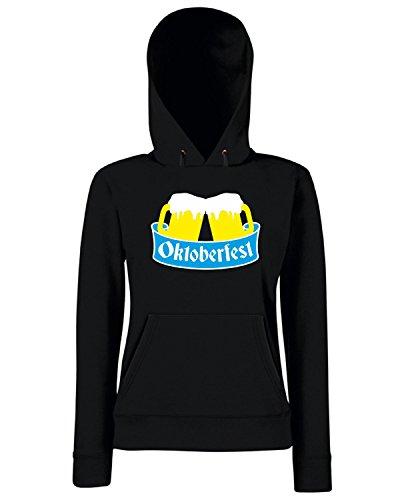 T-Shirtshock - Sweats a capuche Femme BEER0087 Oktoberfest Beer Team Noir