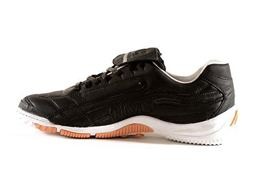 AGLA , Chaussures pour homme spécial foot en salle Blanc Cassé blanc media Noir