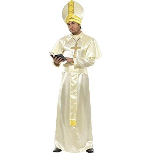 Weihnachten Vater Kostüm - NET TOYS Papst Kostüm Heiliger Vater Papstkostüm weiß M 48/50 Papst Gewand Papstgewand Papstrobe Kirche Pontifex Weihnachten Weihnachtskostüm