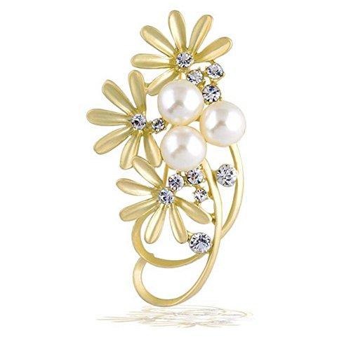 Hosaire 1X Frau weibliche Mode Perle Brosche große Blume Corsage Kleidung (Kleidung-corsagen)