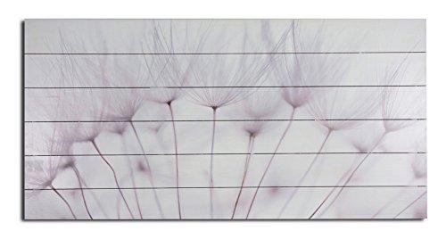 Holzbild Wandbild aus Holz Pusteblume 100 x 50 cm