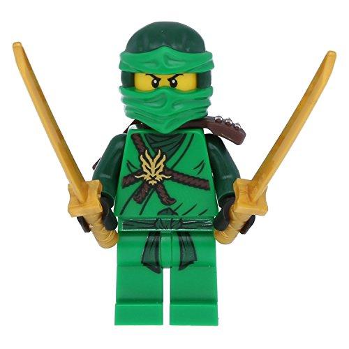 LEGO Ninjago Minifigur Grüne Ninja Figur Lloyd green mit 4 (Ninja Grüne Die)