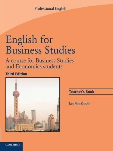 English for Business Studies 3rd Teacher's Book