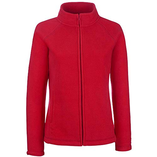 Fruit of the Loom - Lady -Fit Fleece Jacket S,Red